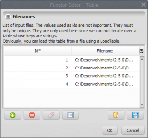 table with full filenames